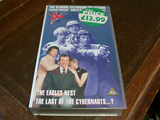THE NEW AVENGERS VHS VIDEO TAPE LAST OF THE CYBERNAUTS THE EAGLES NEST