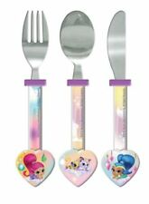 Shimmer and Shine Children's Cutlery Set - Heart Shaped Spoon, Fork & Knife