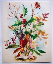 Swedish elf in flowers plants  Christmas GREETING CARD *M