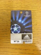 18/03/2015 Ticket: Barcelona v Manchester City [Champions League] [Champions Clu