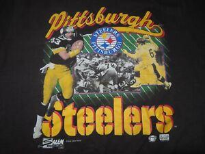 Vintage Salem Sportswear Label 1990 PITTSBURGH STEELERS (XL) T-Shirt LOUIS LIPPS