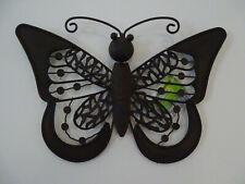 Kleiner Schmetterling Rostoptik braun Eisen für Innen & außen Wandschmuck Deko