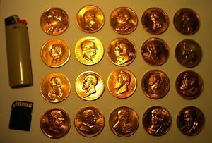 COINS - 37 USA Presidents ( DENVER mint )  37 coins - 35mm diam' wt 16.9gm GC