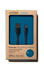 Anker iPhone Cable 6ft Powerline With Lightning Connector iPad, iPod Brand New