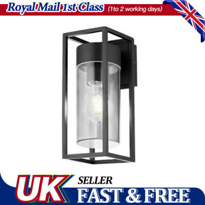 white indoor LED Rectangular  Wall Light Clear Metal Lantern Garden Wall Lamp