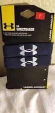 "UNDER ARMOUR WRISTBANDS - 1"" - BLUE- NWT"