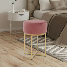 Round Pouffe Seat Stool Vanity Makeup Dressing Table Chair Nordic Dining Chair