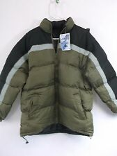 WINTER Jacket,Light Weight,Water Resistant, Adult size Large, PUFFY, METAL ZIP