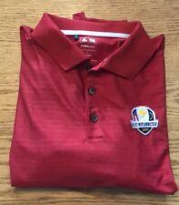 Adidas 2015 Cc Ryder Cup Red golf shirt size L Euc