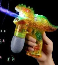 2 X DINOSAUR BUBBLE GUN SHOOTER FRICTION POWERED BUBBLE SOLUTION BOYS GIRLS TOYS