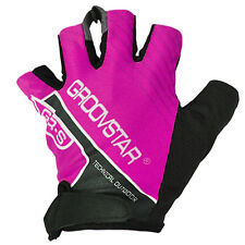 Half Finger Gloves Cycling Mitts Bike Golf Fishing for Woman Medium Size Pink