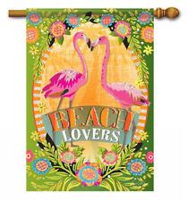 "New listing Beach Lovers Summer House Flag Beach Floral Flamingo Paradise Nautical 28"" x 40"""