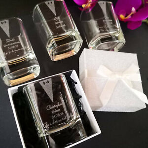 Engraved Wedding Shot Glass + Optional Gift Box (Tumbler Flask Groom Stag Do Day