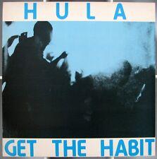 HULA  Get The Habit  UK 12in 1985 Red Rhino