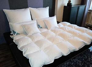 Bettdecke Decke Federbett Bett 135x200cm Füllung 1600g 95% Gänsefedern 5% Daunen