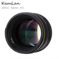 Kamlan 50mm f/1.1 Large Aperture Manual Focus Lens for Fuji X Mirrorless Cameras