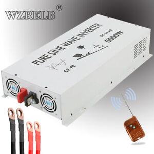 5000W Pure Sine Wave Inverter 24V to 120 220V Car Power Converter Truck Remote