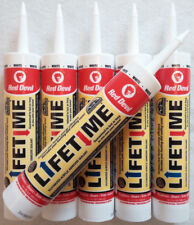 Lot of 6 Red Devil Lifetime White Siliconized Acrylic Adhesive Sealant Caulk