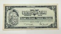 1974 Canadian Tire 5 Five Cents CTC-S4-B-BN Circulated Money Banknote E132