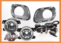 For 2014 2015 2016 Jeep Cherokee Clear Fog Lights Wiring Kit Switch Complete SET