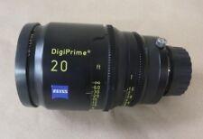 """CARL ZEISS DIGIPRIME 20 20mm T1.6 LENS B4 MOUNT - FOR DIGITAL CINE 2/3"""" CAMERAS"""