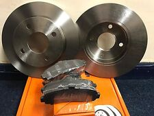 NISSAN MICRA K12 05-10 FRONT 2 X BRAKE DISCS AND PADS FREE NEXT DAY