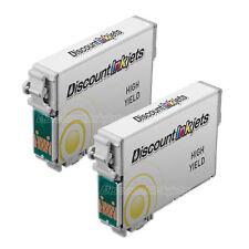 Reman Ink Cartridge 2 PK for Epson T126420 Yellow T1264 Stylus NX423 NX330