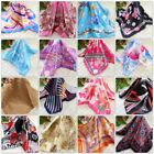 Hot Women Office Ladies Silk Satin Scarves Small Vintage Square Wrap Head Shawl