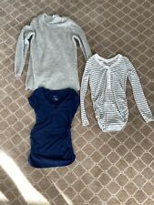 Maternity Clothing Lot Gap XSmall Sweater Shirt Tee Banded Belly