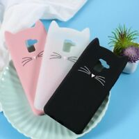 Cute 3D Mustache Cat Silicone Phone Case Cover for Samsung Galaxy A8+ (2018)