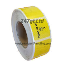 EC 104 -R YELLOW  REFLECTIVE CONSPICUITY TAPE 45mm squares x 25 METERS
