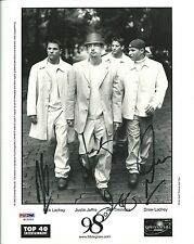 98 Degrees Signed 8x10 Photo PSA/DNA Drew Nick Lachey Jeff Timmons Justin Jeffre