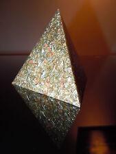 GEO Orgone tetraedro piramide oro argento ottone rame acciaio SHUNGITE ricchezza OM