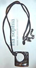 "NEW DEMO - LIA SOPHIA ""PERPLEXED"" NECKLACE - HEMATITE-TONE SILVERTONE - RETIRED"