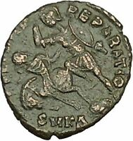 CONSTANTIUS II Constantine the Great son Roman Coin Battle Horse man i40406