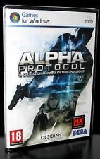 ALPHA PROTOCOL GIOCO NUOVO PER PC DVD IN EDIZIONE ITALIANA PAL ITA SEGA IT PG417