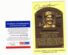 ROLLIE FINGERS AUTOGRAPH GOLD HALL OF FAME POST CARD PSA