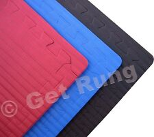 red mixed martial arts grappliing interlocking floor puzzle mat system