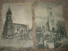 3x AK Kirche Rouvres, Feldpost-Karte, 1.WK, 1914/15, ungel.