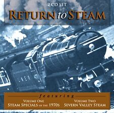 RETURN TO STEAM Vol. 1 & 2. (2 CD SET). STEAM TRAIN SOUNDS. 89 Mins. DUKE 9938