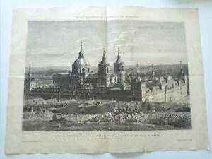 1885 Vista del Monasterio de San Lorenzo del Escorial Panteón de los Reyes