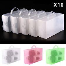 10pcs Plastique Empilable Boîte à Chaussures Housse Tiroir Stockage Rangement