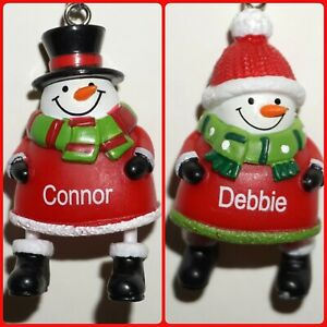 Ganz Snowman Ornament Jolly Jingles Christmas Personalized Choose Name New