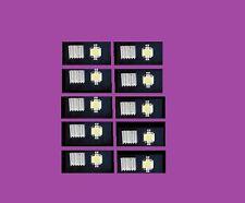 10W 12V WHITE LED SMD CHIPS LIGHT HEAT SINKS  1Set= 6 Led Chips +6 Heatsink