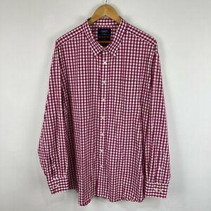 Charles Tyrwhitt Mens Button Up Shirt Size 3XL Multicoloured Check Long Sleeve