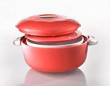 Enjoy Pirofila tonda ceramica e contenitore termico - 2,3 L Rosso