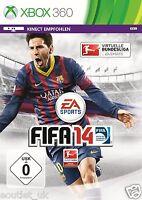 FIFA 14 Fútbol/Soccer Juego Para Xbox 360 X360 GERMAN LANGUAGE versión NUEVO