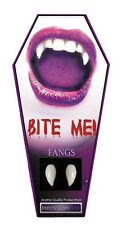 BITE ME VAMPIRE TEETH FANGS CUSTOM FIT DRACULA WEREWOLF HALLOWEEN FANCY DRESS