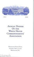2016 White House Correspondents' Association Dinner Program Barack Obama
