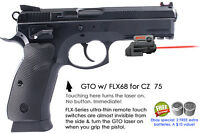 ArmaLaser GTO for CZ  75 with Rail - RED Laser Sight w/FLX68 Grip Touch